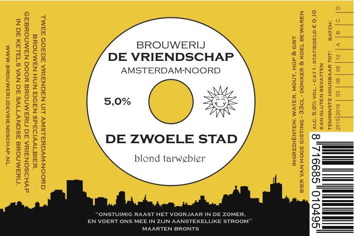 Presentatie nieuw bier: 'De Zwoele Stad' (Brouwerij De Vriendschap)