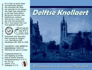 Delfts Knollaert 33cl v2015
